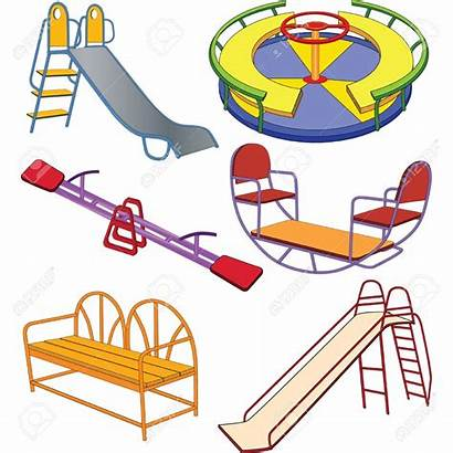 Playground Clip Clipart Swing Cartoon Animated Childrens