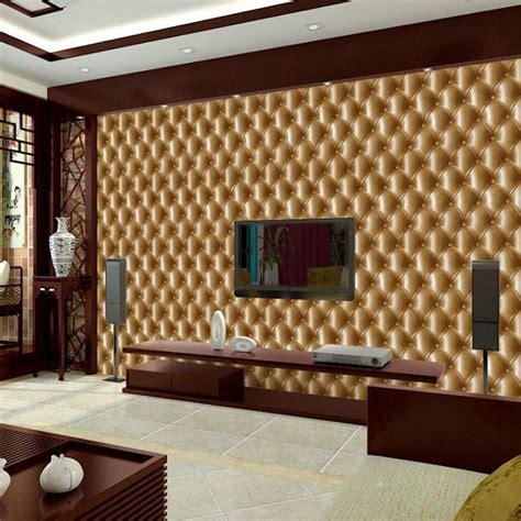 effect print faux leather wallpaper modern gold beige