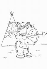 Coloring Bow Arrow Indian Shopkins sketch template