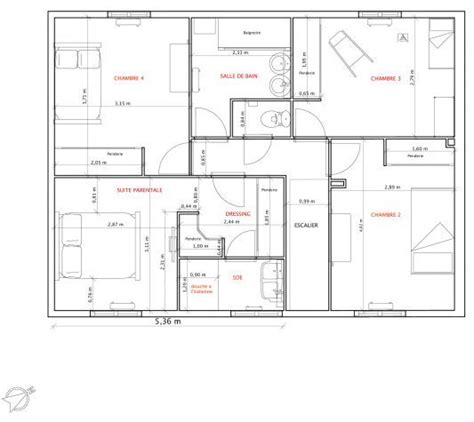 plan de maison 120m2 4 chambres plan maison 120m2 recherche plan house