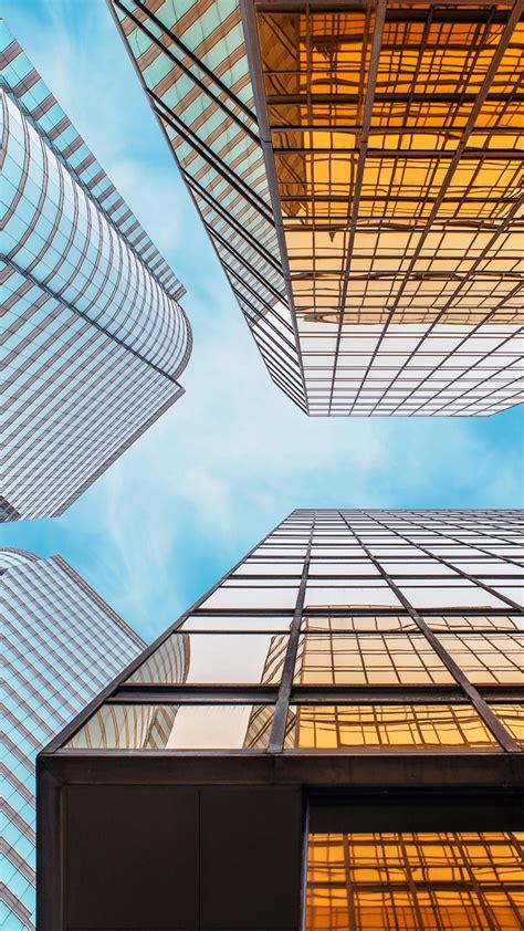 wallpaper skyscrapers glass buildings hd  world