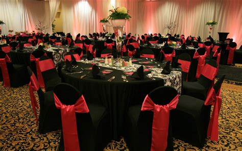 red and black valentine s party ideas wedding chair