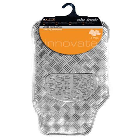 tapis voiture tapis de sol look aluminium