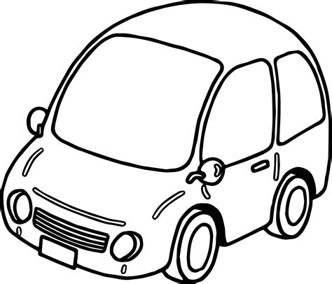 car coloring basic car coloring page wecoloringpage