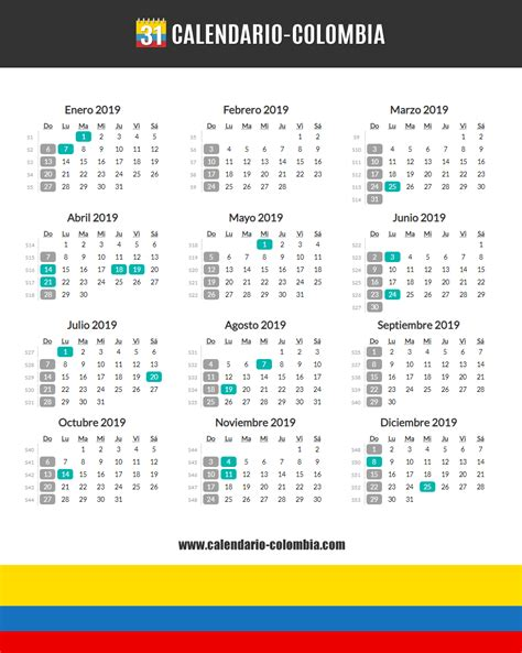calendario colombia calendario colombia
