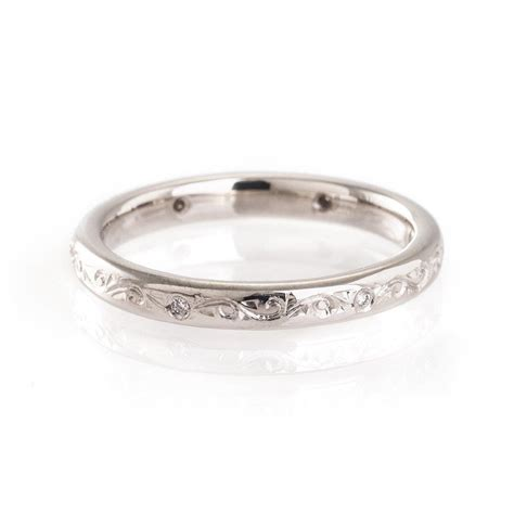 buy engraved wedding ring pattern 4 online mitchel and co