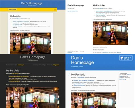 github website template pre fab pages with github s automatic page generator