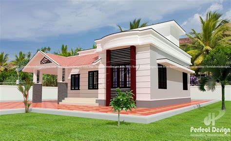 Modern single floor for ₹10 lakhs – Kerala Home Design