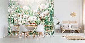 Papier Peint Chambre À Coucher : papiers peints pissenlit mur aux dimensions ~ Nature-et-papiers.com Idées de Décoration