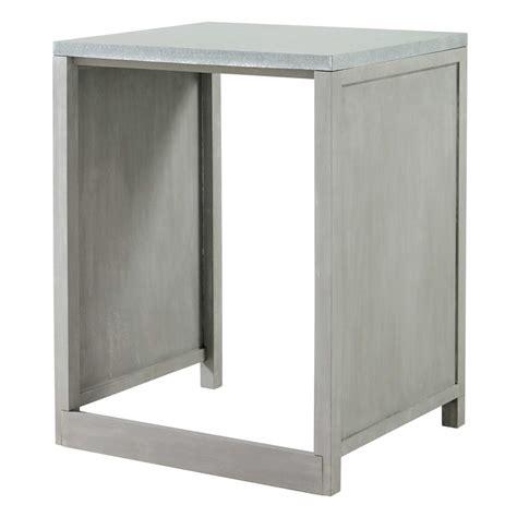 plan de travail cuisine en zinc meuble de cuisine en hévéa pour lave vaisselle l 66 cm