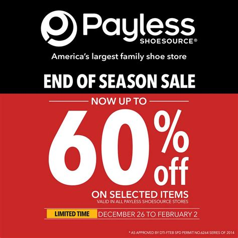 Payless Shoesource End of Season Sale December - January ...