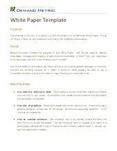 white paper outline With marketing white paper template