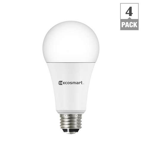 3 Way Led Light Bulb by Ecosmart 40 60 100w Equivalent Daylight A21 3 Way Led