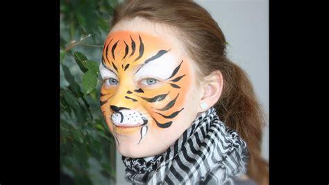 kinder schminken anleitung tiger schminken einfache tiger kinderschminken anleitung