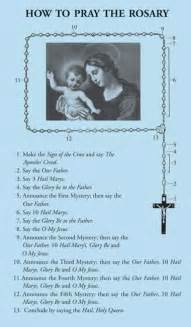 How to Pray the Rosary Prayers Printable