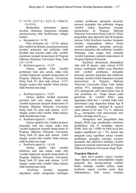 JURNAL PDP VOL 1 NO 2 Benny Agus Setiono Bauran Promosi