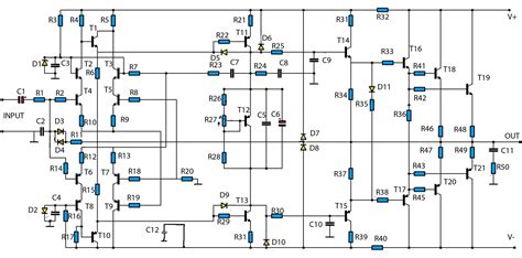 high power audio amp schematic circuit audio