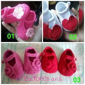 Crochet En S : zapatos o zapatillas para bebes tejidos a crochet bs ~ Nature-et-papiers.com Idées de Décoration