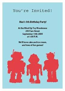 Make Your Own Invitations For Free Printable Robot Birthday Invitation Templates