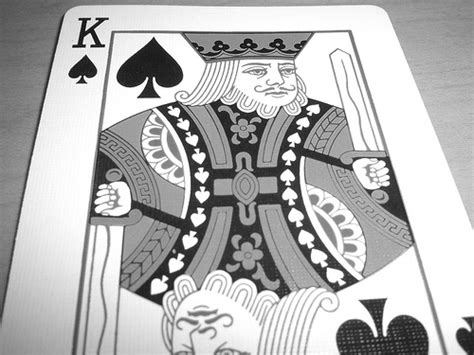 Vintage King Of Spades Card