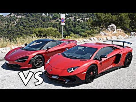Driving A Lamborghini Aventador Sv Vs Mclaren 720s!! Youtube