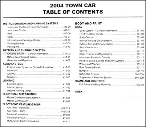 automotive repair manual 1998 lincoln town car transmission 2004 lincoln town car repair shop manual original