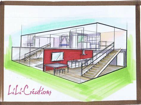 comment dessiner un interieur de maison