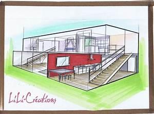 comment dessiner un interieur de maison With dessiner maison en 3d 2 interieur maison en perspective
