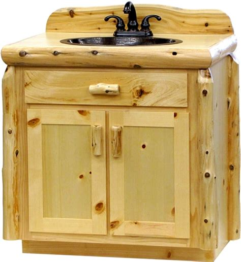 knotty pine bathroom vanity cabinets vanity cabinets pine log bathroom vanity wholesale log