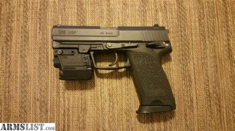 hk usp 45 laser light armslist for sale hk usp 45 with viridian x5l laser light