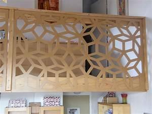 claustra d39interieur au motif geometrique separer With peindre un escalier bois 9 paravent en bois sur mesure par allure et bois