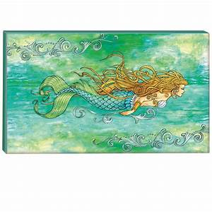 Pearl of the Sea Mermaid Canvas Art - Gallery wrapped