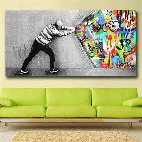 graffiti canvas art  wall   curtain pop art piece