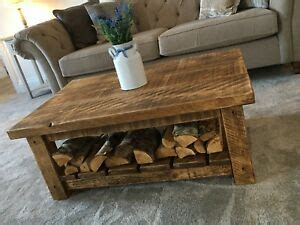 A diy farmhouse coffee table that's giving farmhouse a new name. SOLID FARMHOUSE CHUNKY WOODEN COFFEE TABLE - WAX FINISHED - Can Make Any Size !   eBay