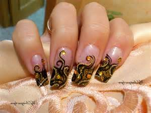 Black gold nail designs ideas simple design