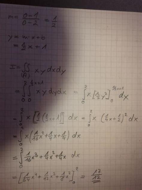 doppelintegral dreieck berechnen mathelounge