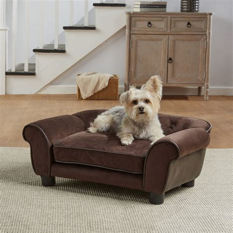 Hund Auf Sofa by Enchanted Home Pet Brown Ultra Plush Cleo Pet Sofa Petco