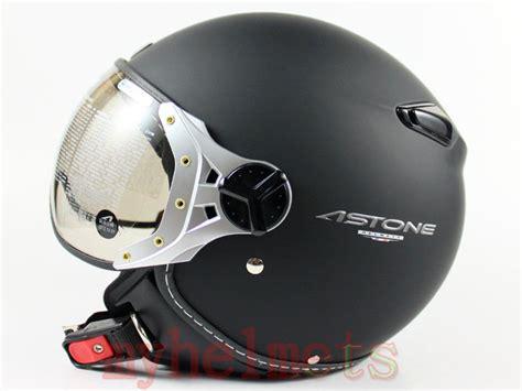 Jet Matte Black Open Face Motorcycle Helmet Pilot Style