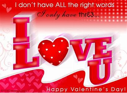 Words Cards Greeting Valentines Special Very Valentine