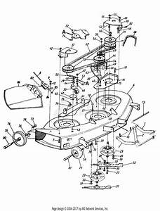 Mtd Agway Mdl 803h Parts Diagram For 46 U0026quot  Mowing Deck