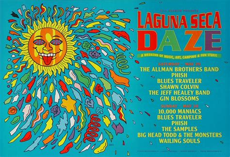 The Allman Brothers Band Poster From Laguna Seca Raceway