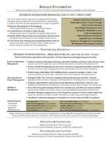 business operations resume objective resume sle for business operations