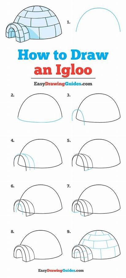 Igloo Draw Easy Drawing Step Tutorial Easydrawingguides