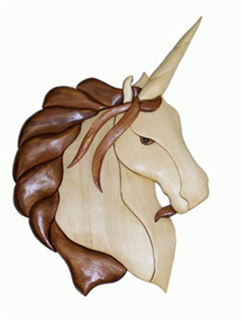 male unicorn intarsia pattern workshop supply