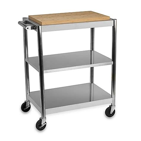 stainless steel kitchen cart international silver stainless steel rolling kitchen cart