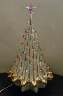 Atlantic Mold Ceramic Christmas Tree by Ceramic Christmas Tree Eames Era Hollywood Regency White