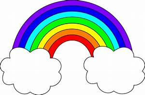 Rainbow With Clouds Clip Art at Clker.com - vector clip ...