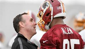 Redskins defensive line coach Jim Tomsula is making no excuses