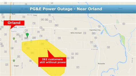 updated pge customers power   restored  orland