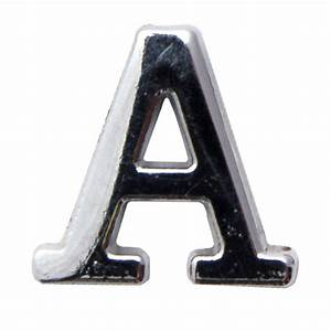 silver metallic letter a with clutch pin With letter a pin